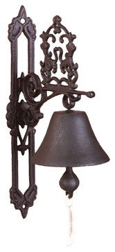I think this would be great at the front door. Doorbell Classic Antique Brown traditional outdoor decor