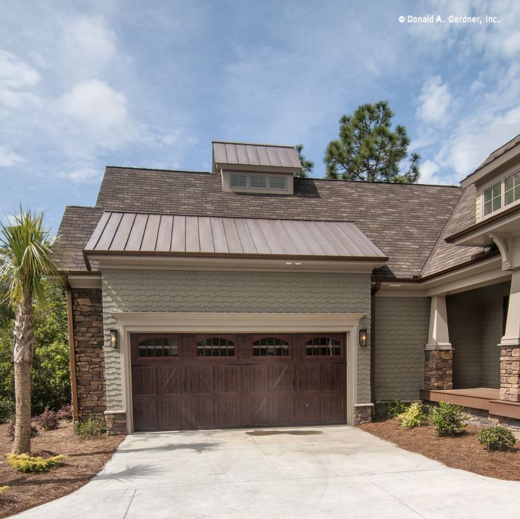 This garage was modified to be a courtyard entry. http://www.dongardner.com/plan_details.aspx?pid=3676. #Courtyard #Entry #Garage