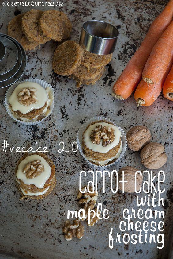 Ricette di Cultura: Re-cake 2.0 puntata #03: Torta di carote con frosting al formaggio e sciroppo d'acero