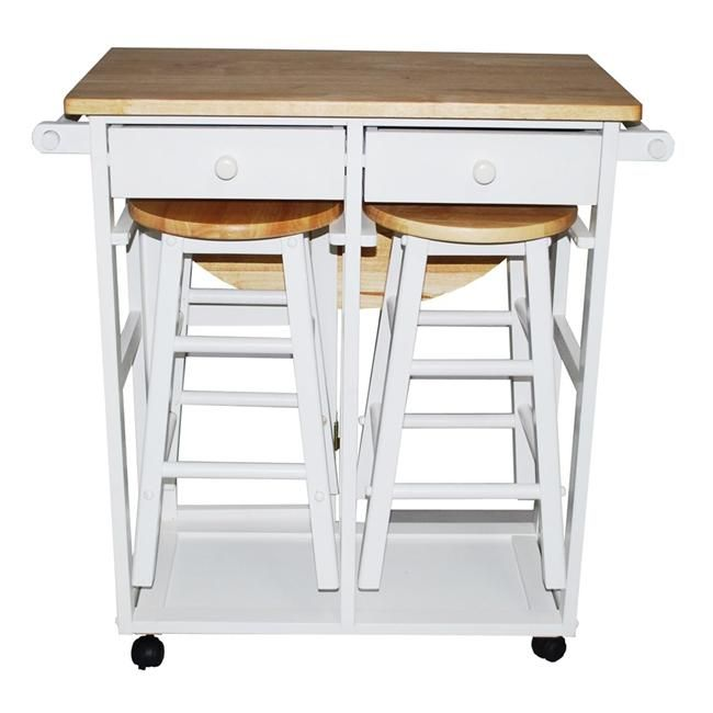 Yu Shan Co Usa Ltd 355 21 Breakfast Cart With Drop Leaf Table White Kitchen Cart Kitchen Island Table Kitchen Island Cart With Seating