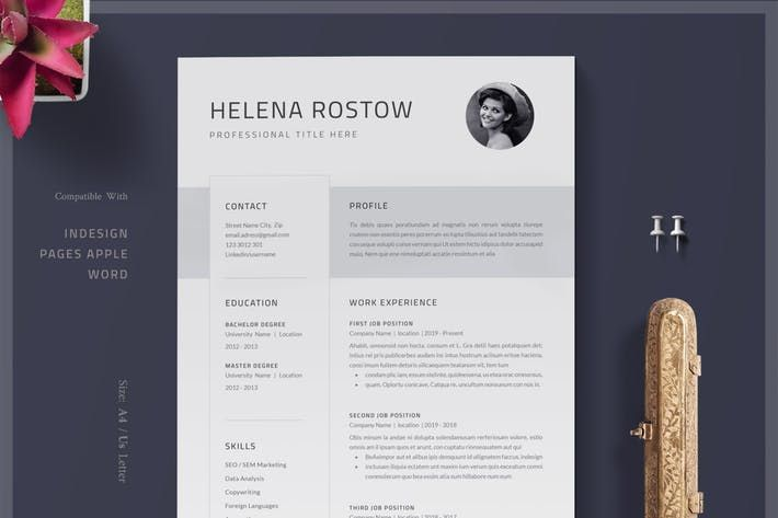 Cover Image For Resume Resume Template Clean Cv