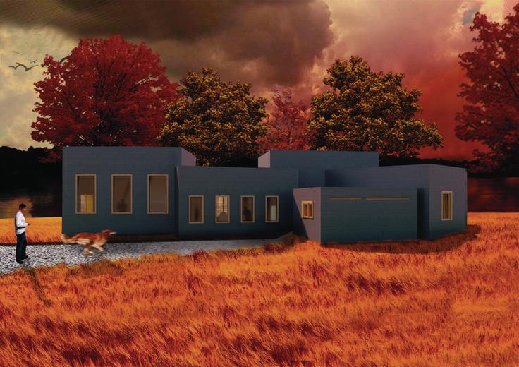 5x5 Box House - Revit/Photoshop