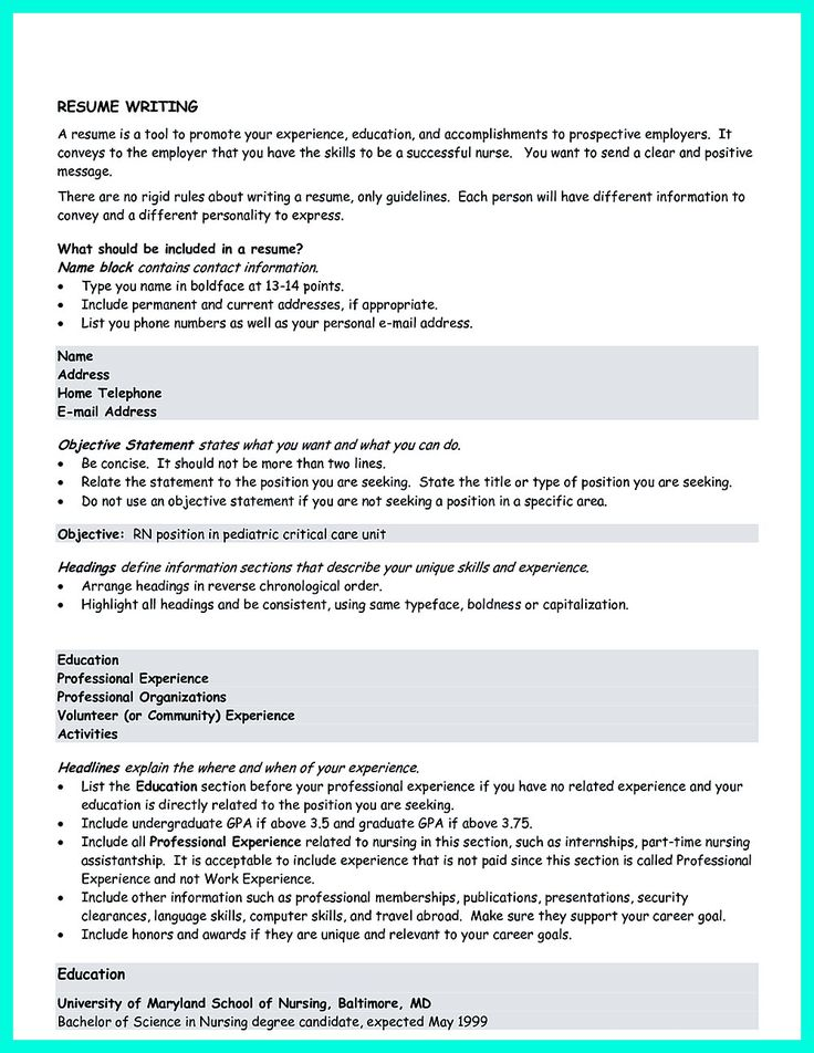 10 best Work School images on Pinterest Sample resume, Resume - best resume objective statements