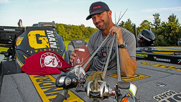 Fall is the favorite time of the year for bass fishing's funniest man, Gerald Swindle. The former waterbug-quick Locust Fork High School running back and kick returner finds peace in a tree stand following a long Bassmaster Elite Series season, and he finds bass returning to a variety of shallow water patterns where he enjoys ...
