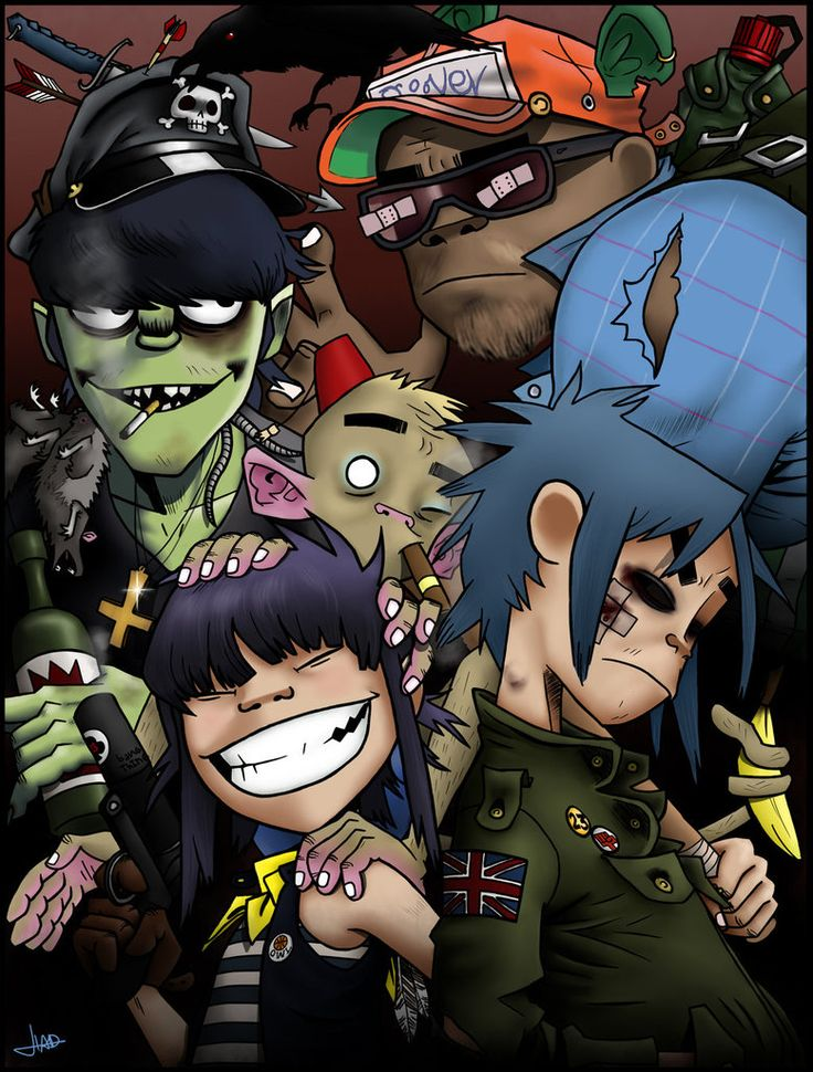 Gorillaz (+speedpainting) by Bulletproof-Eggs on DeviantArt