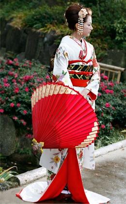 kimono and wagasa
