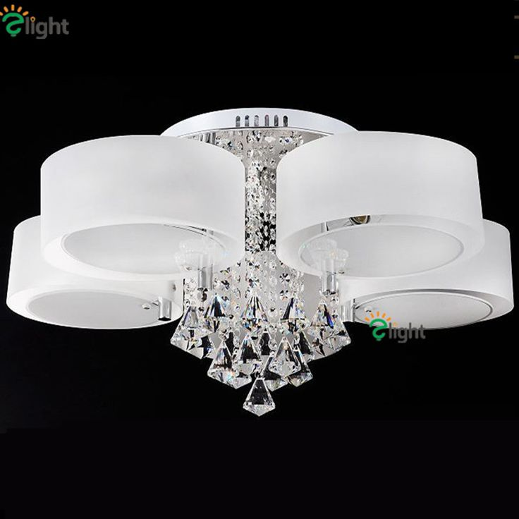 Modern Lustre Crystal Dimmable Led Chandeliers Luminaria Acrylic Ring Dining Room Led Ceiling Chandelier Lighting Lights Fixture #Affiliate