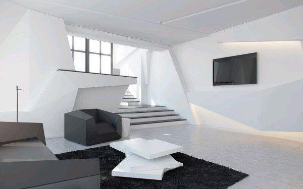 Футуристический дизайн интерьера: будущее рядом