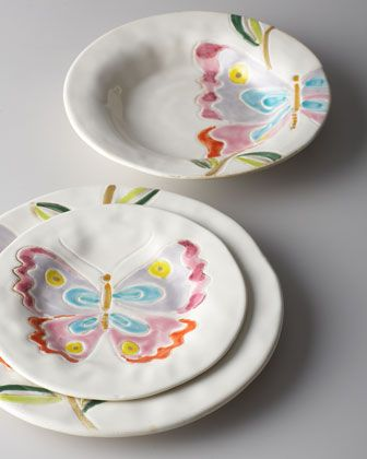 """""""Butterfly"""" Dinnerware at Horchow."""