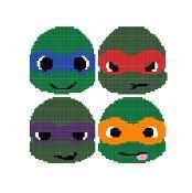 $3.00 Ninja Turtles graphgan pattern - via @Craftsy