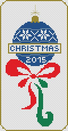 Free Christmas Cross Stitch Pattern by alitadesigns.com