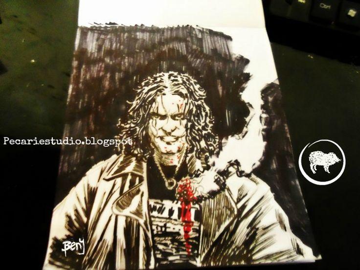#FanArt #TheCrow #Dibujo #Pecariestudio #BlancoyNegro #Ilustración #Fotografía #Cómic #Historieta #Arte #CarlosBenitez #BrandonLee