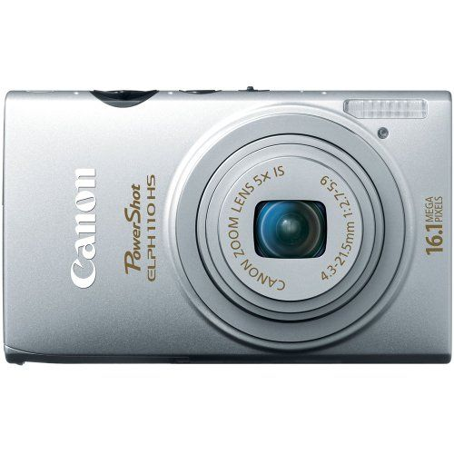 Canon PowerShot ELPH 110 HS 16.1 MP CMOS Digital Camera with 5x Optical Image Stabilized Zoom 24mm Wide-Angle Lens and 1080p Full HD Video Recording (Silver), Best Gadgets