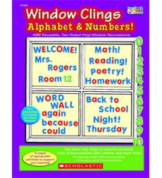 1000 images about from the scholastic teacher store on for Window cling letters and numbers