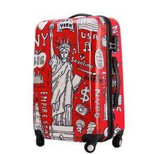 Graffiti padrão, Estátua da liberdade de bagagem, Carrinho de mala de viagem de rolamento, Abs bagagem(China (Mainland))