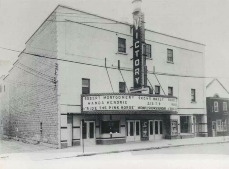 First movie I saw alone with a friend was at the Victory Theatre