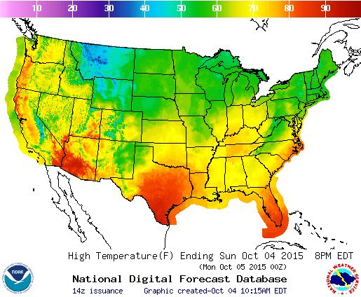 Best National Weather Forecast Ideas Only On Pinterest Oahu - Map us high temperature tomorrow