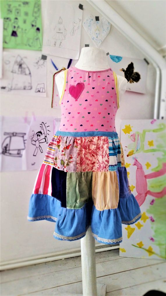 Patchwork Dress Boho dress Play Dress Girls by MevrouwHartman https://www.etsy.com/shop/MevrouwHartman  http://www.mevrouwhartman.nl/