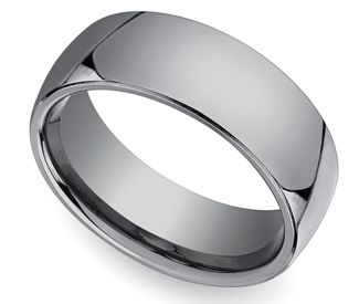 comfort fit mens wedding ring in tungsten 7mm - Tungsten Mens Wedding Ring