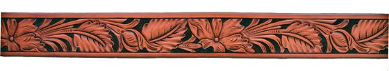 BIG BEND SADDLERY  Flower Carved Belts   18-FC-S-38 1.2 inch carved balt SZIE:38  $179.95