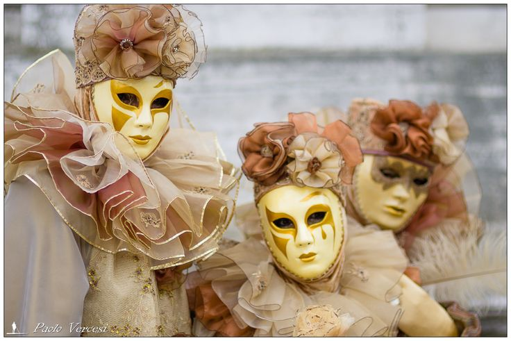 Carnevale Venezia 2015 LXI - Maskers on the staircase of the Salute church.