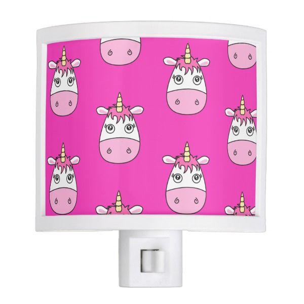 Cute Pink Unicorn Night light #Custom #Christmas #Holiday #Night #Lights