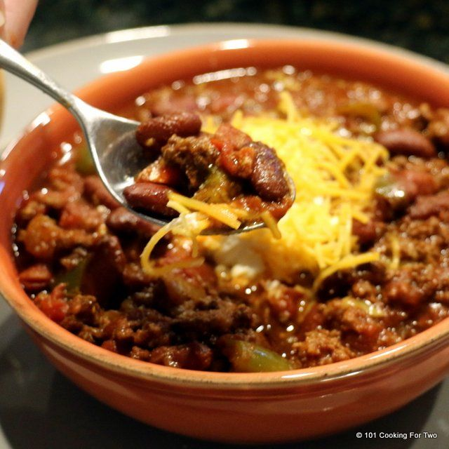 A wonderful tasty chili recipe made crock pot easy. A great hardy everyday meal but good enough for that Superbowl party.