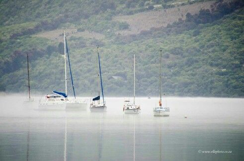 Knysna  lagoon in the mist Photo Elle photography
