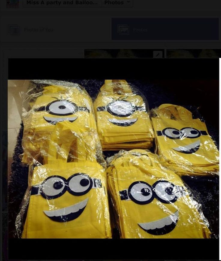 Minions Lootbags  Fb page: Miss A party and Balloon stylist  Php. 35.00 each