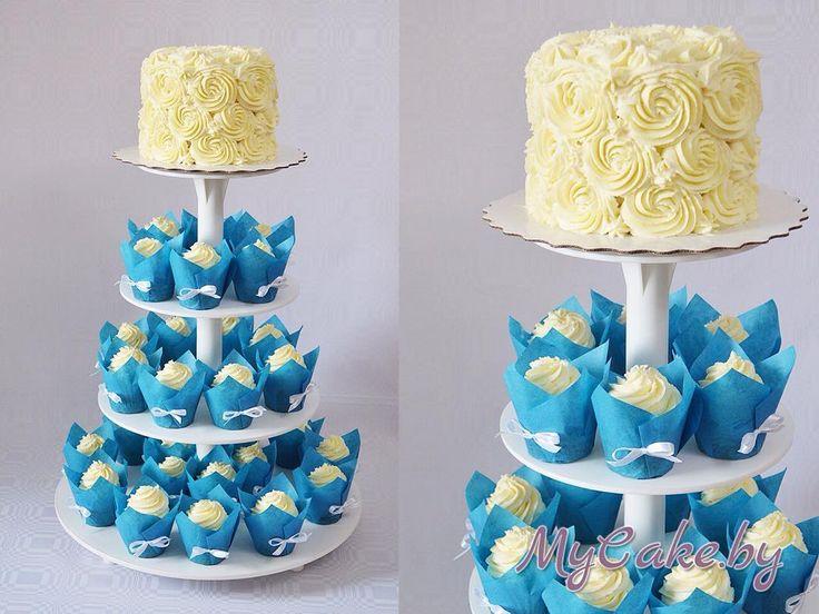 Минимализм. Торт и капкейки в синем цвете.  P. S. - с международным днем торта! Ура! #mycakeby #cake #cupcake #cakeminsk #cupcakeminsk #wedding #weddingsummer #weddingday #weddingcake #weddingcupcakes #тортывминске #капкейкивминске #свадебныйторт #свадебныекапкейки #свадьбаминск #свадьба