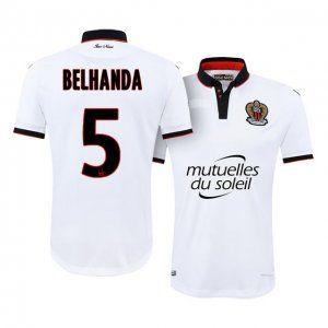 OGC Nice Away 16-17 Season White #5 Belhanda Soccer Jersey [I736]