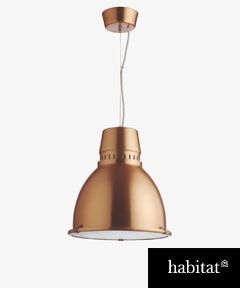 Copper light £80 - bit Tom Dixon like...