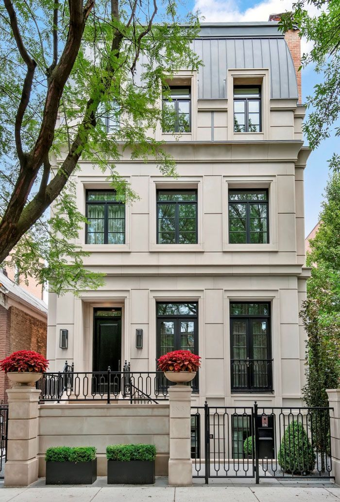 Traditional European Style Newly Constructed Luxury Home In Chicago Idesignarch Interior Design Architecture Interior Decorating Emagazine Facade House Townhouse Exterior Architecture