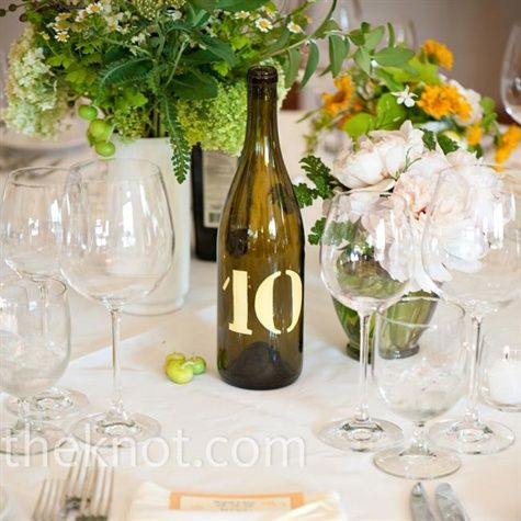 Winery wedding table numbers!