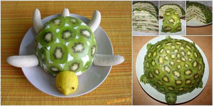 Playing with food :: Time to Try This Yummy and Healthy Turtle & banana Fruit Cake