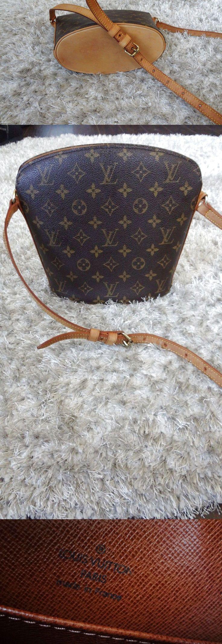 Authentic LOUIS VUITTON DROUOT Cross body Sling Handbag bag Clean $329.0