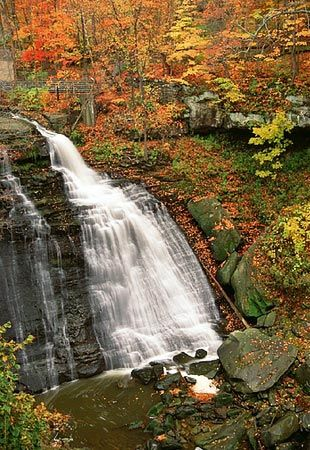 Amish country: Beautiful Waterfalls, Ohio Scen View, Fall Colors, Hock Hill, Buckeyes States, Places To See, Autumn Waterfalls, Beautiful Ohio, Cleveland Ohio