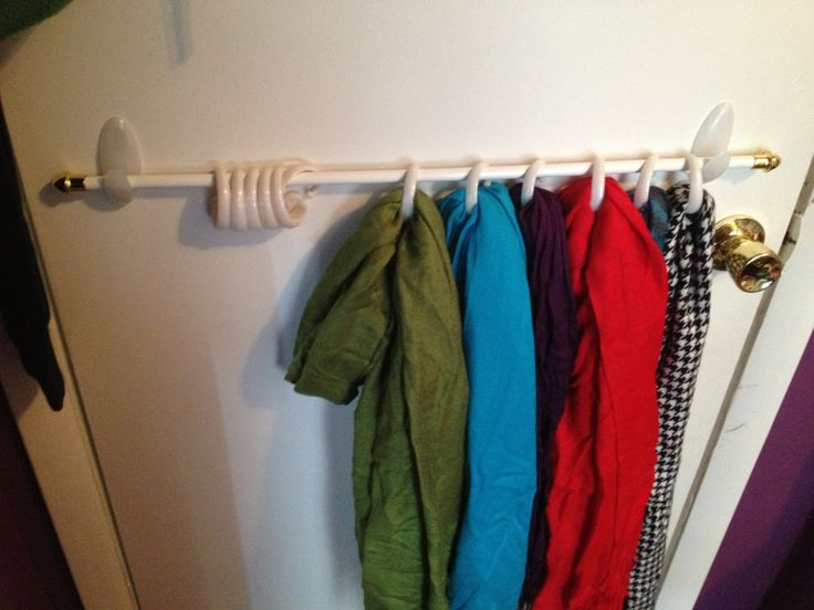 No Nail Hole Scarf Storage 3m Hooks Dollar Store Curtain Rod And Shower Curtain Hooks Perfect