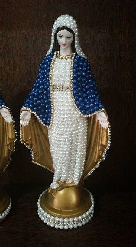 Nossa Senhora das Graças com pérolas –  Super Luxo - 35 cm