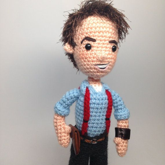 Captain Jack Harkness Doctor Who Amigurumi doll Crochet