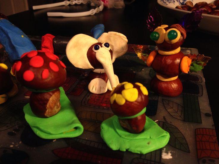 Chestnuts crafts