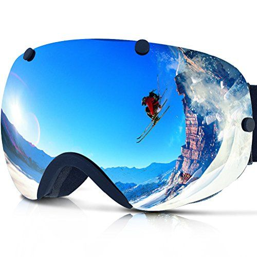 Look at this: Zionor Lagopus Snowmobile Snowboard Skate Ski Goggles with Detachable Lens