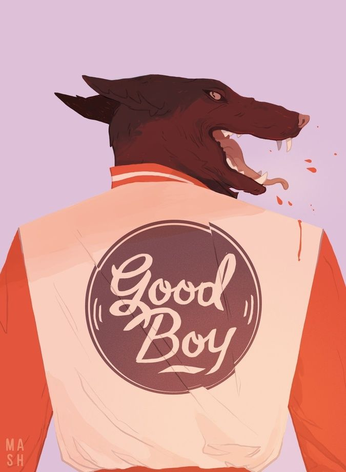 Good Boy, an art print by Samantha Mash - INPRNT