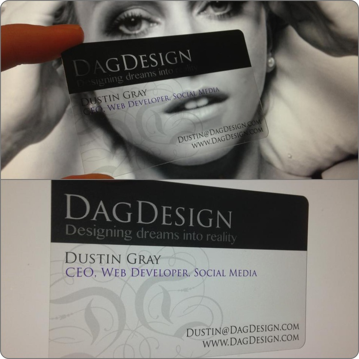 My new Plastic Business Cards!