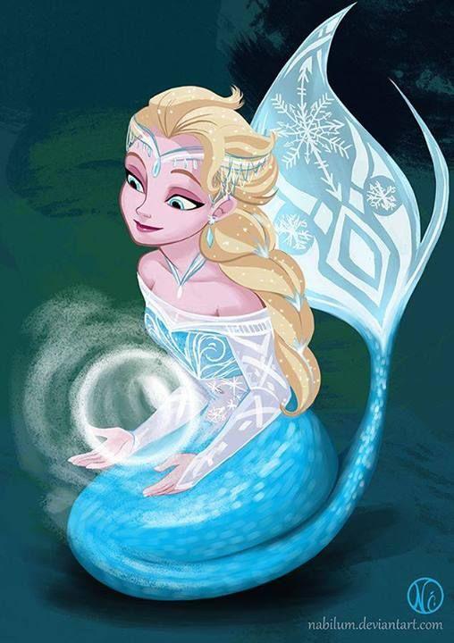 Elsa frozen mermaid