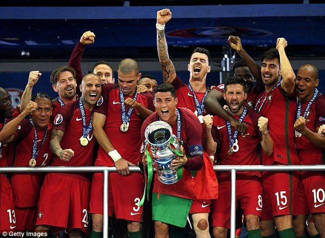 Ronaldo led Portugal to triumph at the European Championship