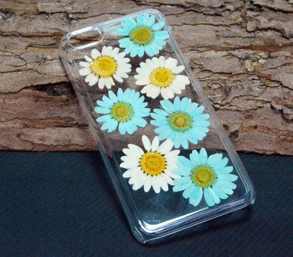 Pressed flower iPhone 6 CaseDasiy iPhone 5C by UUniquecase on Etsy