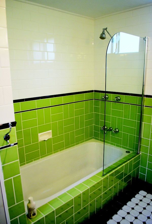 36 Art Deco Green Bathroom Tiles Ideas And Pictures Part 73