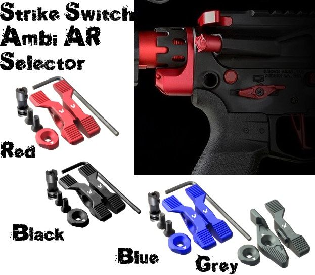 Strike Industries SI Switch AR15 Ambi Selector AR-15 Red Blue Bk