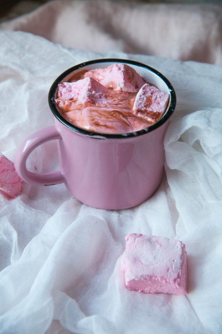 Cardamom Hot Chocolate with Rosewater Marshmallows